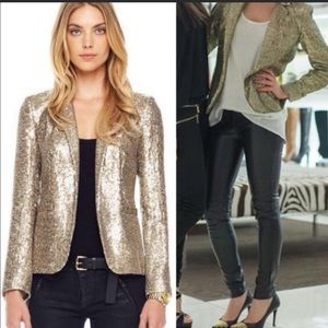 MICHAEL by Michael Kors Gold Sequined Blazer